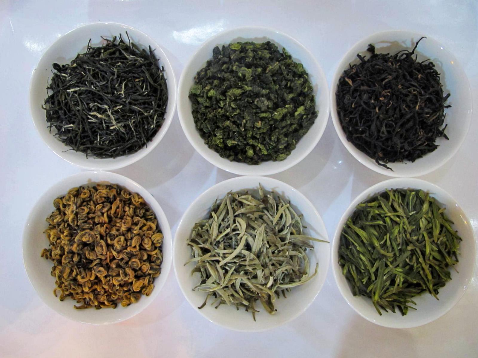 Šešios arbatų rūšys