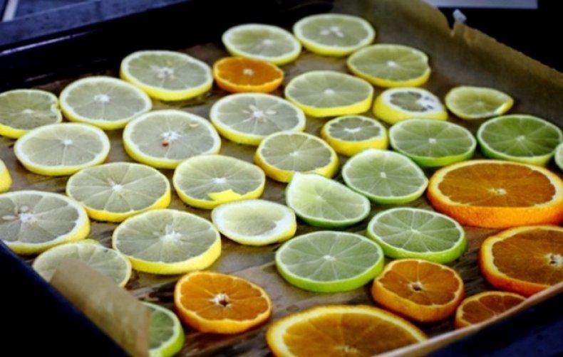Apelsino džiovinimas orkaitėje