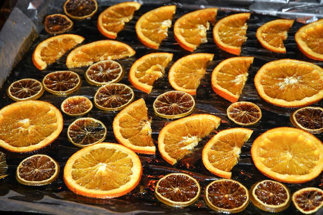 Džiovintos apelsinų riekelės